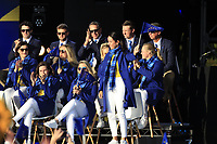 Georgia Hall (EUR) gets picked to play in the morning foursomes during the Opening Ceremony of the Solheim Cup 2019 at Gleneagles Golf CLub, Auchterarder, Perthshire, Scotland. 12/09/2019.<br /> Picture Thos Caffrey / Golffile.ie<br /> <br /> All photo usage must carry mandatory copyright credit (© Golffile | Thos Caffrey)