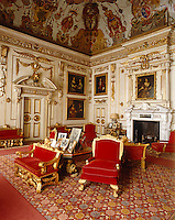 The Single Cube Room at Wilton House is furnished with giltwood chairs by William Kent and Thomas Chippendale