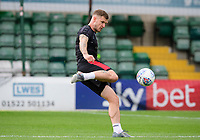 Lincoln City's Michael O'Connor during the pre-match warm-up<br /> <br /> Photographer Chris Vaughan/CameraSport<br /> <br /> The EFL Sky Bet League One - Lincoln City v Fleetwood Town - Saturday 31st August 2019 - Sincil Bank - Lincoln<br /> <br /> World Copyright © 2019 CameraSport. All rights reserved. 43 Linden Ave. Countesthorpe. Leicester. England. LE8 5PG - Tel: +44 (0) 116 277 4147 - admin@camerasport.com - www.camerasport.com