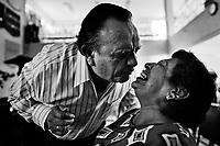 Pastor Hugo Alvarez performs the exorcism ritual on a faithful at the Church of the Divine Saviour in Mexico City, Mexico, 31 May 2011. Exorcism is an ancient religious technique of evicting spirits, generally called demons or evil, from a person which is believed to be possessed. Although the formal catholic rite of exorcism is rarely seen and must be only conducted by a designated priest, there are many Christian pastors and preachers (known as 'exorcistas') performing exorcism and prayers of liberation. Using their strong charisma, special skills and religous formulas, they command the evil spirit to depart a victim's mind and body, usually invoking Jesus Christ or God to intervene in favour of a possessed person.
