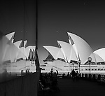 Infra-red reflection of the Sydney Opera House, Sydney, NSW, Australia