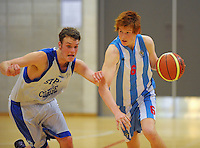 Action from the 2012 College Sport Wellington boys division one basketball final between St Patrick's College Town and Hutt Valley High School at Te Rauparaha Arena, Porirua, Wellington, New Zealand on Thursday, 30 August 2012. Photo: Dave Lintott / lintottphoto.co.nz