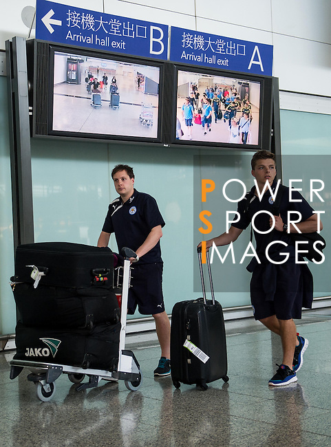 Leicester City arrive to the Hong Kong International Airport ahead the HKFC Citibank Soccer Sevens 2014 on May 21, 2014 in Hong Kong, China. Photo by Aitor Alcalde / Power Sport Images