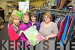 THE GIFT OF GIVING: Mary Kelly co-manager of Oxfam, Tralee, and volunteers Carmel Brosnan, Jan Scanlon and Noreen Lyne are appealing to people to drop in any unwanted Christmas gifts as part of their national Make Space for Oxfam appeal.