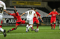 Pictured: Mark Gower of Swansea City in action <br /> Re: Carling Cup Round Four, Swansea City Football Club v Watford at the Liberty Stadium, Swansea, south Wales, Tuesday 11 November 2008.<br /> Picture by Dimitrios Legakis Photography (Athena Picture Agency), Swansea, 07815441513