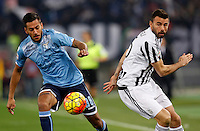 Calcio, Serie A: Lazio vs Juventus. Roma, stadio Olimpico, 4 dicembre 2015.<br /> Lazio&rsquo;s Ricardo Kishna, left, is chased by Juventus&rsquo; Andrea Barzagli during the Italian Serie A football match between Lazio and Juventus at Rome's Olympic stadium, 4 December 2015.<br /> UPDATE IMAGES PRESS/Riccardo De Luca