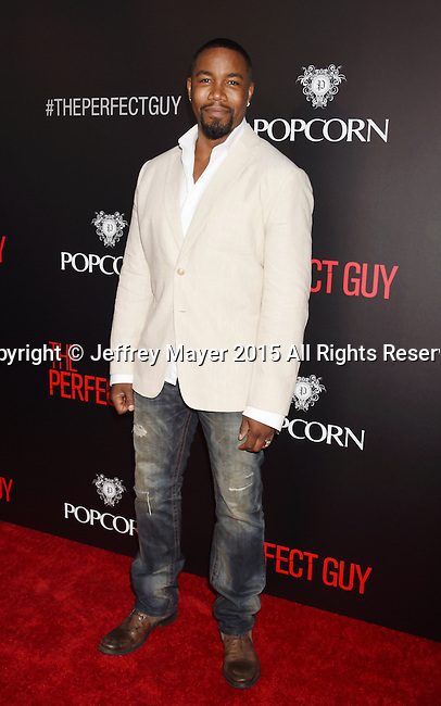 BEVERLY HILLS, CA - SEPTEMBER 02: Actor Michael Jai White arrives at the premiere of Screen Gems' 'The Perfect Guy' at The WGA Theater on September 2, 2015 in Beverly Hills, California.