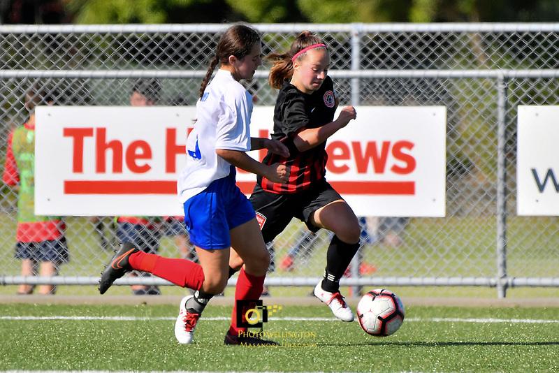 National Age Group Tournament - U16 Girls Mainland v Auckland at Petone Memorial Park, Lower Hutt, New Zealand on Wednesday 12 December 2018. <br /> Photo by Masanori Udagawa. <br /> www.photowellington.photoshelter.com