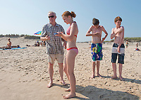 Mathew, Olive, Louis and Hamish, Sag Beach. The Barn. Bridgehampton, New York 2012