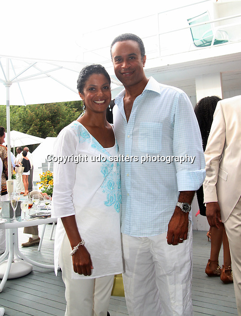 "Andrea and Maurice Duboise attend the 7th Annual ""On Our Toes In The Hamptons"" fundraiser at a Private Location, Water Mill, New York 8/21/10"