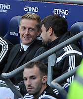 Picture: Andrew Roe/AHPIX LTD, Football, Barclays Premier League, Manchester City v Swansea City, 22/11/14, Etihad Stadium, K.O 3pm<br /> <br /> Swansea's Garry Monk<br /> <br /> Andrew Roe>>>>>>>07826527594