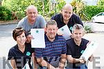 Michelle O'sullivan, Liam Wharton, Tom Leslie, Pat O'Sullivan and Paul O'Shea at the Treasure Hunt in Fossa on Sunday