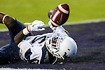 West Virginia Mountaineers wide receiver Jovon Durante (5) in action during the game between the  West Virginia and the TCU Horned Frogs at the Amon G. Carter Stadium in Fort Worth, Texas.