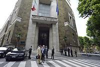 Roma, 4 giugno 2012.Ministero per lo Sviluppo Economico.Incontro tra Governo, Dr Motor, sindacati e l'advisor Invitalia sul futuro dello stabilimento Fiat di Termini Imerese.
