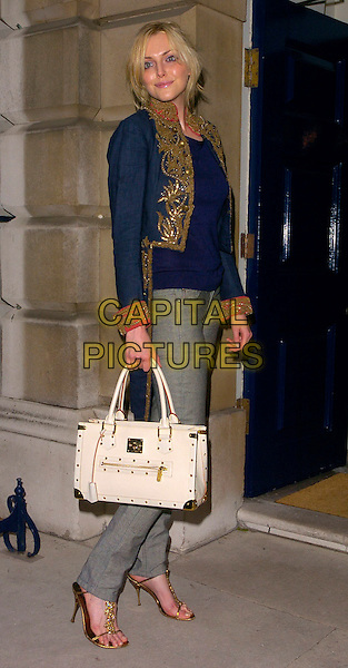 SOPHIE DAHL.The Ralph Lauren Wimbledon Championships Dinner, Spencer House, London, UK..June 21st, 2006.Ref: CAN.full length blue top jacket gold white bag purse skinny jeans.www.capitalpictures.com.sales@capitalpictures.com.©Capital Pictures