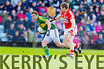 Stephen O'Brien Kerry in action against Stephen O'Donoghue Cork in the National Football League at Pairc Ui Rinn, Cork on Sunday.