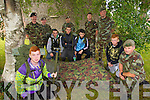 Pictured at Ballymullen Barracks on Friday last as young people from Tralee Garda Projects who took part in a four week survival/outdoor education programme which will culminate in an overnight facilitated by the RDF were l-r: Simon Lonergan, Ricky Roche, Eoin Quirke. Jordan Hallissey and Jonathan Reilly, Lieutenant Sean Coffey. Back l-r: Sergeant David Locke, Brian Lucid, Company Sergeant John O'Connor, Lieutenant Damien Ginty and Lieutenant Aidan Leahy.