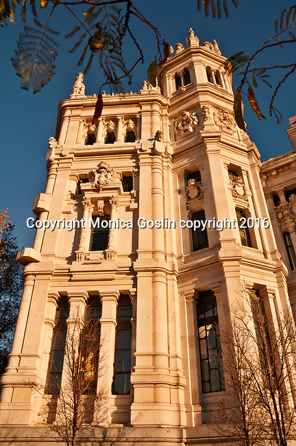 Palacio de Comunicaciones in Madrid, Spain; the Palacio de Comunicaciones was built between 1905 and 1918 and used as a post office until 2007 when it became the Mayor's office