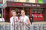 Emma Moynihan and Sandra Hayes of Mr. Duffy's Traditional Sweet Shop<br /> Providers  of the finest quality sweets,chocolates and other delectable confectionery. We offer handmade Bronagh Choclate which is our own brand.  We offer personalised birthday plaques, birthday ideas, weddings catering for children and adults