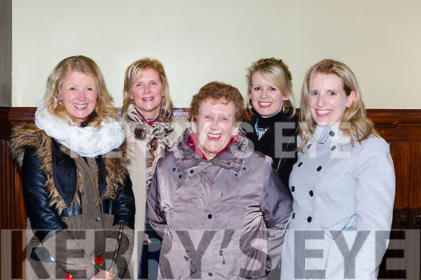 Bridie Brosnan Currow with her daughters Norah O'Connor, Breda Cronin, Sandra Foley and Pauline Brosnan at the Three Tenors concert in St Stephen and John church Castleisland on Tuesday night