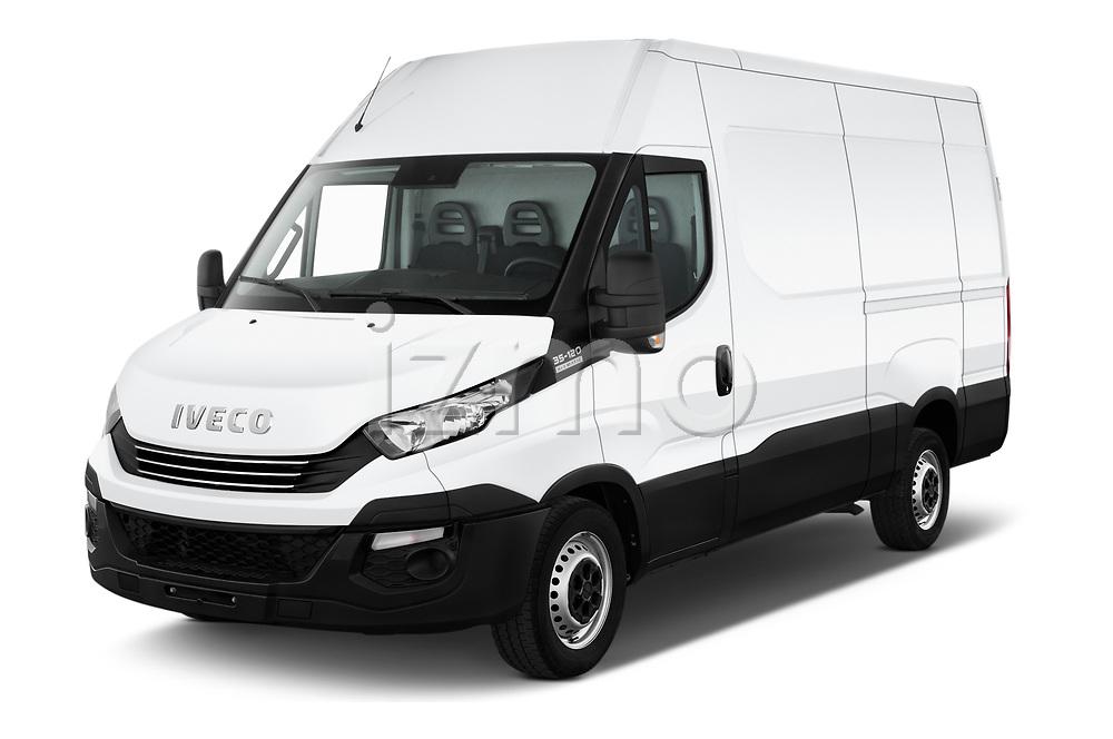 2018 Iveco Daily S 4 Door Cargo Van Angular Front automotive stock photos of front three quarter view