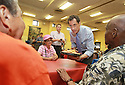 Anthony Weiner visits theRosetta Gaston Senior Center on Thursday, August 8, 2013 in Brooklyn,  New York. (AP Photo/ Donald Traill)