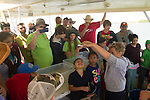 learning marine biology on the Galveston boat tour