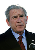 United States President George W. Bush speaks about the terrorist attacks on Mumbai, India after arriving at the White House from Camp David, in Washington on November 29, 2008. <br /> Credit: Alexis C. Glenn / Pool via CNP