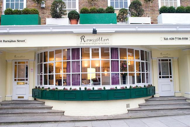 Exterior, Roussillon Restaurant, Belgrovia, London, Great Britain, Europe