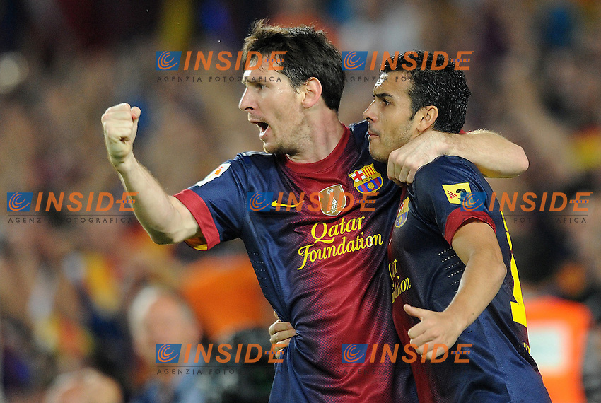 Joie de Lionel Messi et Pedro Rodriguez (Barcelone)  .Barcellona 7/10/2012 Camp Nou.Football Calcio 2012/2013 Liga.Barcellona Real Madrid.Foto Insidefoto / Panoramic.ITALY ONLY