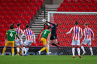 12th February 2020; Bet365 Stadium, Stoke, Staffordshire, England; English Championship Football, Stoke City versus Preston North End; Goalkeeper Declan Rudd of Preston North End makes a save