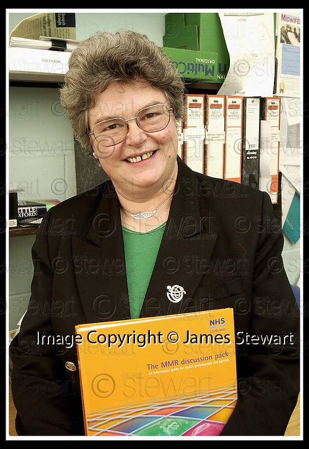 07/02/2002                 Collect Pic : James Stewart .Ref :     .File Name : stewart-midwife 02.PROFESSOR TRICIA MURPHY BLACK, PROFESSOR OF MIDWIFERY, WHO HAS STATED THAT PARENTS SHOULD BE GIVEN A CHOICE BETWEEN THE MMR AND SINGLE JABS.........(see copy from Tim Bugler).......James Stewart Photo Agency, Stewart House, Stewart Road, Falkirk. FK2 7AS      Vat Reg No. 607 6932 25.Office     : +44 (0)1324 630007     .Mobile  : + 44 (0)7721 416997.Fax         :  +44 (0)1324 630007.E-mail  :  jim@jspa.co.uk.If you require further information then contact Jim Stewart on any of the numbers above.........