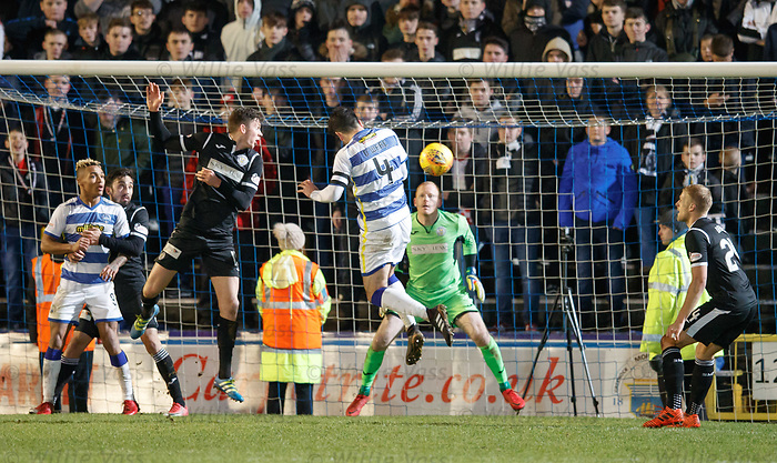 Thomas O'Ware heads Morton level