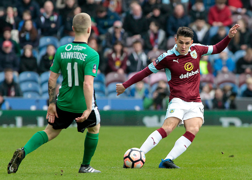 Burnley's Ashley Westwood in action<br /> <br /> Photographer David Shipman/CameraSport<br /> <br /> Emirates FA Cup Fifth Round - Burnley v Lincoln City - Saturday 18th February 2017 - Turf Moor - Burnley <br />  <br /> World Copyright &copy; 2017 CameraSport. All rights reserved. 43 Linden Ave. Countesthorpe. Leicester. England. LE8 5PG - Tel: +44 (0) 116 277 4147 - admin@camerasport.com - www.camerasport.com