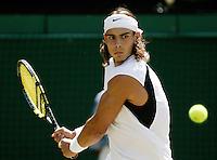 1-7-06,England, London, Wimbledon, fourth round match,  Rafael Nadal