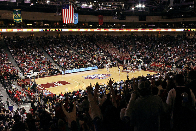 LAS VEGAS, NV - MARCH 8:  The arena during Saint Mary's 81-62 win over the Gonzaga Bulldogs in the championship game of the 2010 Zappos West Coast Conference Basketball Championships on March 8, 2010 at Orleans Arena in Las Vegas Nevada.
