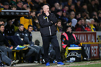 Bradford City manager Simon Grayson during the Sky Bet League 1 match between Bradford City and Wigan Athletic at the Northern Commercial Stadium, Bradford, England on 14 March 2018. Photo by Thomas Gadd.