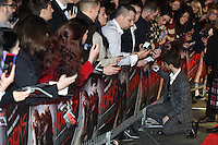 "Daniel Radcliffe arrives for the ""Horns"" premiere at the Odeon West End, London. 20/10/2014 Picture by: Steve Vas / Featureflash"