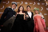 September 16 2012 - Montreal, Quebec, CANADA - Gemeaux Awards Gala - <br /><br /> - Caroline Gendron, Yan England
