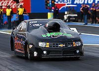 Feb 20, 2015; Chandler, AZ, USA; NHRA pro stock driver Jeffrey Isbell during qualifying for the Carquest Nationals at Wild Horse Pass Motorsports Park. Mandatory Credit: Mark J. Rebilas-
