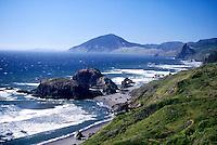 SEACOAST<br /> Coast line showing Reflecting waves<br /> Oregon coast