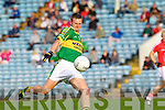 James Walsh of Kerry goes for a score against Cork last Wednesday night in Pairc Ui Chaoimh, Cork in the Munster GAA Junior Football Championship.