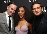 "Erik Lochtefeld, Christiani Pitts and Eric William Morris attend the Broadway Opening Night After Party for ""King Kong - Alive On Broadway"" at Cucina & Co. on November 8, 2018 in New York City."
