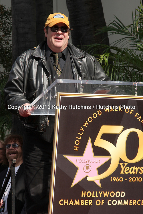 Dan Akroyd.Hollywood Walk of Fame Star Ceremony for Roy Orbison .Capitol Records building.Los Angeles, CA.January 29, 2010.©2010 Kathy Hutchins / Hutchins Photo....