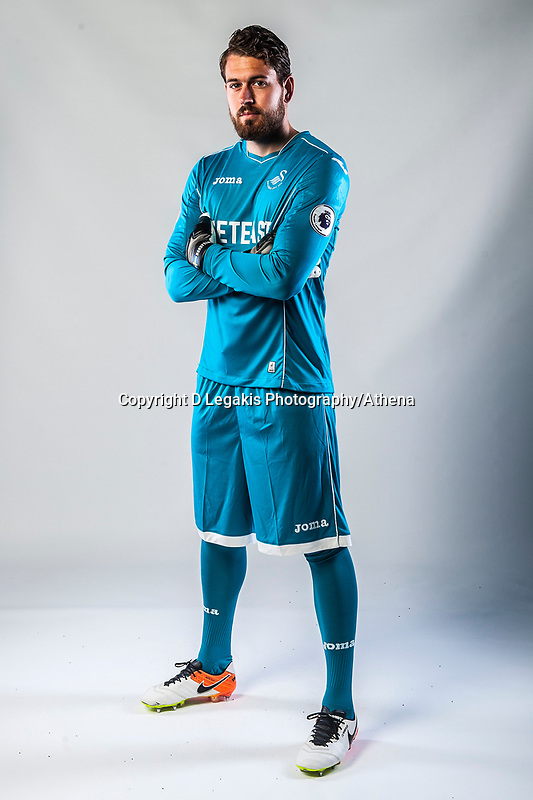Friday  15 July 2016<br />Pictured: Kristoffer Nordfeldt of Swansea City  <br />Re: Swansea City FC  Joma Kit photographs for the 2016-2017 season