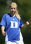 Duke's Kelly McCann on Sunday, October 1st, 2006 at Koskinen Stadium in Durham, North Carolina. The Duke Blue Devils defeated the North Carolina State University Wolfpack 3-0 in an Atlantic Coast Conference NCAA Division I Women's Soccer game.