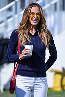 Brooks Koepka's (USA) girlfriend Jena Sims approaches the first tee during round 4 Singles of the 2017 President's Cup, Liberty National Golf Club, Jersey City, New Jersey, USA. 10/1/2017. <br /> Picture: Golffile | Ken Murray<br /> <br /> All photo usage must carry mandatory copyright credit (&copy; Golffile | Ken Murray)