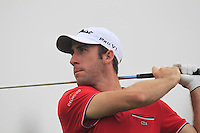 Romain Wattel (FRA) tees off the 15th tee during Friday's Round 2 of the 2014 BMW Masters held at Lake Malaren, Shanghai, China 31st October 2014.<br /> Picture: Eoin Clarke www.golffile.ie