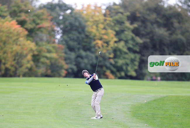 Conor Taylor (Laytown &amp; Bettystown) on the 16th in the Junior Cup during the AIG Cups &amp; Shields Finals in Royal Tara Golf Club on Wednesday 18th September 2013.<br /> Picture:  Thos Caffrey / www.golffile.ie
