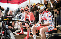 Polka-dotted Thomas De Gendt (BEL/Lotto-Soudal) at the start of Stage 5 (ITT): Barbentane to Barbentane (25km)<br /> 77th Paris - Nice 2019 (2.UWT)<br /> <br /> ©kramon
